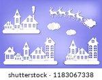 paper city. winter. new year's...   Shutterstock .eps vector #1183067338