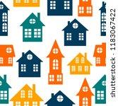 houses. silhouette. city. for...   Shutterstock .eps vector #1183067422