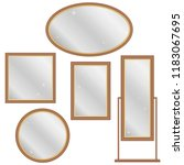 mirror  a set of retro mirrors. ... | Shutterstock .eps vector #1183067695