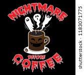nightmare before coffee | Shutterstock .eps vector #1183071775