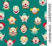 clowns entertaining people...   Shutterstock .eps vector #1183074535