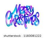 merry christmas paint brush... | Shutterstock .eps vector #1183081222