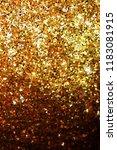 golden glitter texture on black ... | Shutterstock .eps vector #1183081915