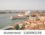 famous santa maria della salute ... | Shutterstock . vector #1183082158