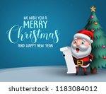 santa claus vector character in ... | Shutterstock .eps vector #1183084012