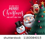 merry christmas greeting text... | Shutterstock .eps vector #1183084015