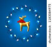 vector christmas poster  banner ... | Shutterstock .eps vector #1183084975