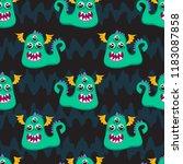 abstract seamless halloween... | Shutterstock .eps vector #1183087858