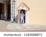 monaco  06 14 2012  honor guard ... | Shutterstock . vector #1183088872