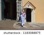 monaco  06 14 2012  honor guard ... | Shutterstock . vector #1183088875