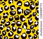 vector illustration leopard... | Shutterstock .eps vector #1183089772