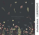 vector silhouettes collection.... | Shutterstock .eps vector #1183090345