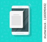 mobile phone document... | Shutterstock .eps vector #1183090432