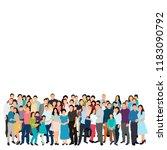 vector  isolated  silhouette of ... | Shutterstock .eps vector #1183090792
