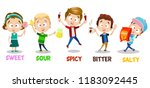 little children present five... | Shutterstock .eps vector #1183092445