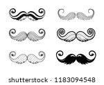 hipster mustache vector icon... | Shutterstock .eps vector #1183094548