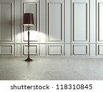 luxury interior with floor lamp | Shutterstock . vector #118310845
