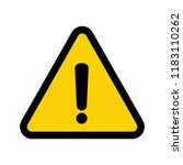 black hazard warning icon.... | Shutterstock .eps vector #1183110262