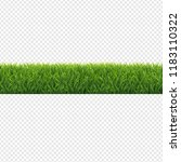 green grass border transparent... | Shutterstock .eps vector #1183110322