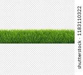 green grass border transparent... | Shutterstock .eps vector #1183110322