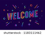 Welcome. Greeting Card  Banner...