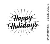 happy holidays gold sun burst... | Shutterstock .eps vector #1183120678