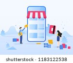 online shopping  mobile... | Shutterstock .eps vector #1183122538