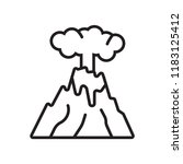 eruption icon vector isolated... | Shutterstock .eps vector #1183125412