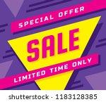 sale concept banner vector... | Shutterstock .eps vector #1183128385