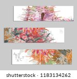 abstract cover template with... | Shutterstock .eps vector #1183134262