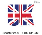 great britain in abc flag... | Shutterstock .eps vector #1183134832