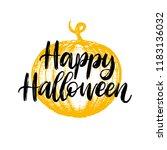 happy halloween  hand lettering.... | Shutterstock .eps vector #1183136032