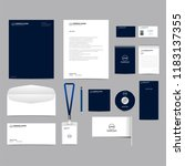 corporate identity template set ... | Shutterstock .eps vector #1183137355
