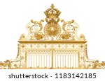isolated golden gates to... | Shutterstock . vector #1183142185