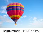 colorful hot air balloon flying ... | Shutterstock . vector #1183144192