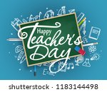 school chalkboard with... | Shutterstock .eps vector #1183144498