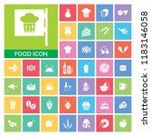 food icon set. very useful food ...   Shutterstock .eps vector #1183146058