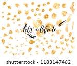 hand drawn golden paint texture.... | Shutterstock .eps vector #1183147462