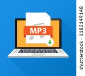 download mp3 button on laptop...