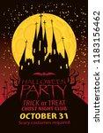 vector banner for halloween...   Shutterstock .eps vector #1183156462