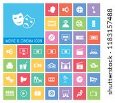 movie and cinema icon set. very ...   Shutterstock .eps vector #1183157488