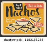 nachos with sauce vintage... | Shutterstock .eps vector #1183158268