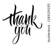 thank you lettering.... | Shutterstock .eps vector #1183159255