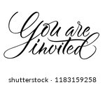 you are invited lettering.... | Shutterstock .eps vector #1183159258
