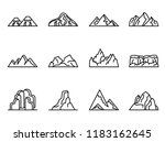 mountain vector icons set with... | Shutterstock .eps vector #1183162645