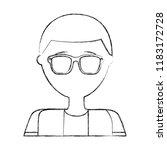 portrait man male character... | Shutterstock .eps vector #1183172728
