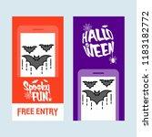 happy halloween invitation... | Shutterstock .eps vector #1183182772