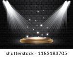 round podium  pedestal or... | Shutterstock .eps vector #1183183705
