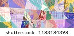 abstract collage asymmetric... | Shutterstock .eps vector #1183184398