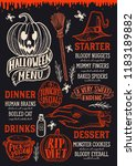 Halloween Menu With Holiday...